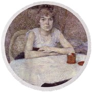 Toulouse-lautrec: Powder Round Beach Towel