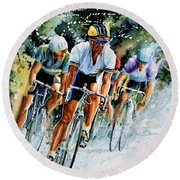 Tour De Force Round Beach Towel