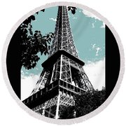Tour Eiffel Round Beach Towel