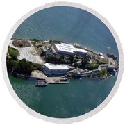 Tour Of Alcatraz Round Beach Towel