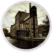 Tourist Office Norrkoping In Old Effect Round Beach Towel