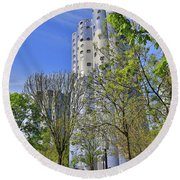 Tours Aillaud Building Round Beach Towel