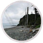 Tow Hill Haida Gwaii Bc Round Beach Towel