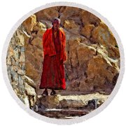 Towards Nirvana Impasto Round Beach Towel