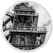 Tower At Bethlehem Steel Round Beach Towel by Bill Cannon