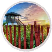 Tower At The Dunes Round Beach Towel