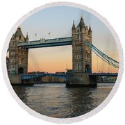 Tower Bridge 2 Round Beach Towel