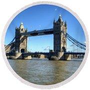 Tower Bridge 3 Round Beach Towel