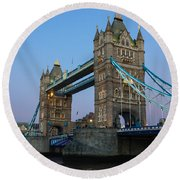 Tower Bridge 5 Round Beach Towel