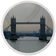 Tower Bridge, London Round Beach Towel
