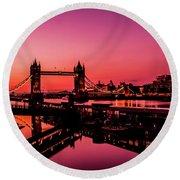 Tower Bridge, London. Round Beach Towel