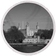 Tower Of London Riverside Round Beach Towel by Gary Eason