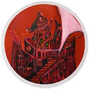 Tower Of Silence Round Beach Towel