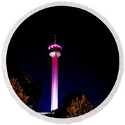 Tower Of The Americas October Night Round Beach Towel