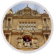 Tower Of The Five Orders Bodleian Library Oxford Round Beach Towel