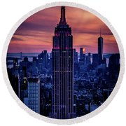 Tower Of Towers Round Beach Towel