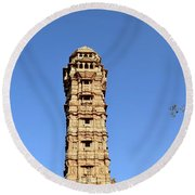 Tower Of Victory Round Beach Towel