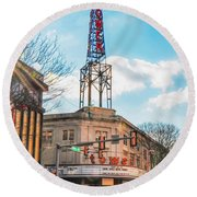 Tower Theater - Upper Darby Pa Round Beach Towel