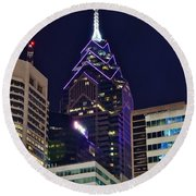 Towering Over Philly Round Beach Towel