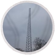 Towers Of Tennessee Round Beach Towel