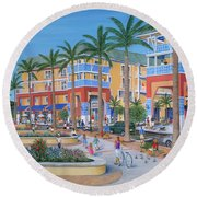 Town Center Abacoa Jupiter Round Beach Towel