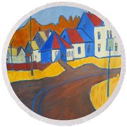 Town Center Plaistow Nh Round Beach Towel