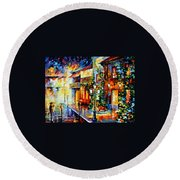 Town From The Dream Round Beach Towel