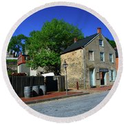 Town Of Harpers Ferry Round Beach Towel