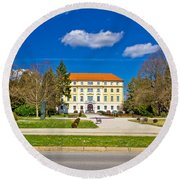 Town Of Ludbreg Square View Round Beach Towel