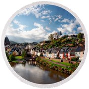 Town Of Saarburg Round Beach Towel