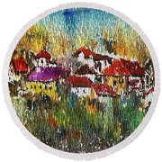 Town To Country Round Beach Towel