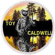 Toy Caldwell At Amber Lake 2 Round Beach Towel