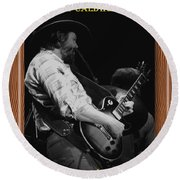 Toy Caldwell Of The Marshall Tucker Band Round Beach Towel