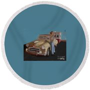 Toy Car Holiday Round Beach Towel