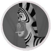Toy Zebra Round Beach Towel