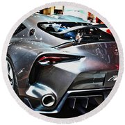 Toyota Ft-1 Concept Number 1 Round Beach Towel