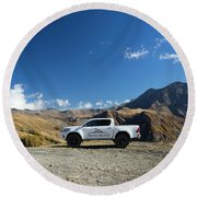 Toyota Hilux At37 Round Beach Towel