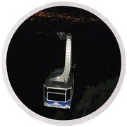 Tr09 Sandia Tram Round Beach Towel