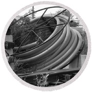 Tracks And Cable Round Beach Towel