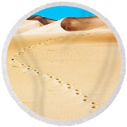 Tracks Round Beach Towel