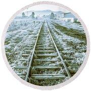 Tracks To Travel Tasmania Round Beach Towel