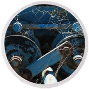 Tractor Engine IIi Round Beach Towel by Stephen Mitchell