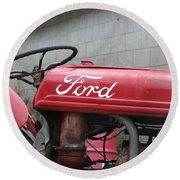 Tractor, Ford  Round Beach Towel