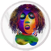 Tracy Mom Color Round Beach Towel
