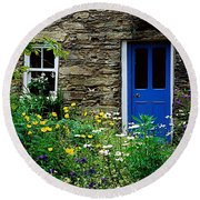 Traditional Cottage, Co Cork Round Beach Towel