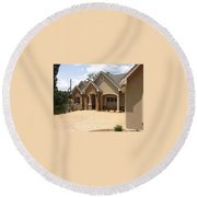 Traditional Exterior Round Beach Towel