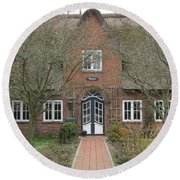 Traditional House 1 Round Beach Towel