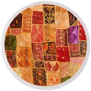Traditional Patchwork Tapestry Round Beach Towel