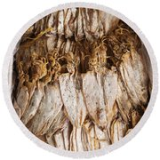 Traditional Sun Dried Squid In Kep Market Cambodia Round Beach Towel