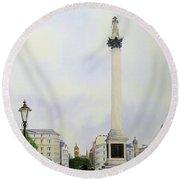 Trafalgar Square London Round Beach Towel